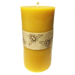 Tall Pillar Beeswax Candle...