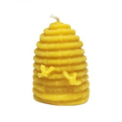 Bee Skep Beeswax Candle