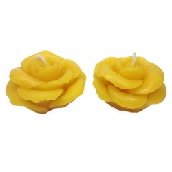 FloralTealight Candles Pair