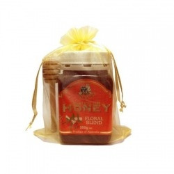 500g Superbee Honey with Wooden Honey Dipper